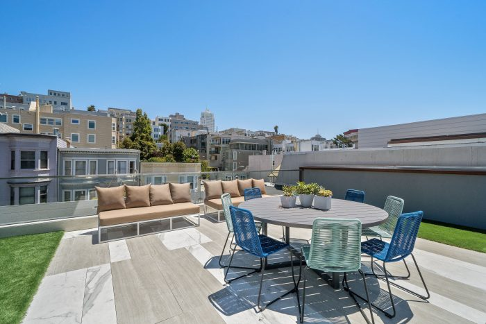 Rooftop deck in Russian Hill.